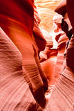The famous Antelope Canyon in Arizona, USA Stock Photography