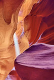 Famous Antelope Canyon light Stock Photo