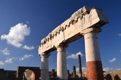 Famous antique ruins of town pompeii in southern italy Stock Image