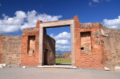 Famous antique ruins of town pompeii in southern italy Royalty Free Stock Photos