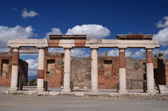 Famous antique ruins of town pompeii in southern italy Stock Photos