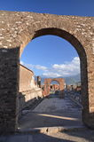 Famous antique ruins of town pompeii in southern italy Royalty Free Stock Photo