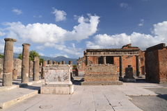Famous antique ruins of town pompeii in southern italy Stock Photography