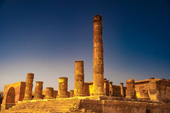 The famous antique site of Pompeii, near Naples. Royalty Free Stock Image