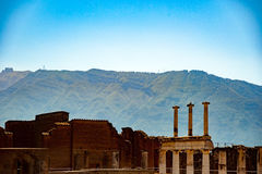 The famous antique site of Pompeii, near Naples. Royalty Free Stock Photography