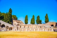 The famous antique site of Pompeii, near Naples. Royalty Free Stock Photos