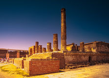 The famous antique site of Pompeii, near Naples. Stock Photo