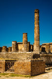 The famous antique site of Pompeii, near Naples. Stock Image