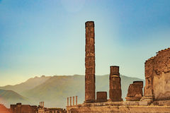 The famous antique site of Pompeii, near Naples. Royalty Free Stock Images