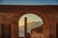 The famous antique site of Pompeii, near Naples. Royalty Free Stock Photo