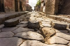 The famous antique site of Pompeii, near Naples royalty free stock image