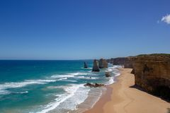 Famous 4 of the 12 Apostel, Victoria, The Twelve Apostles, Great Ocean Road, Victoria royalty free stock image