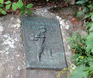 Famous Appalachian Trail Bronze Marker Royalty Free Stock Image