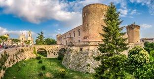 Famous Aragonese Castle (Castello Aragonese) in Venosa, Basilicata, Italy Royalty Free Stock Photos