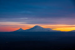 Famous Ararat mountain Royalty Free Stock Photos