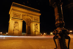 Famous Arc de Triomf in Paris Royalty Free Stock Images