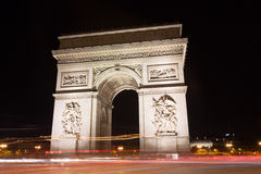 Famous Arc de Triomphe στο Παρίσι, Γαλλία Στοκ Φωτογραφίες