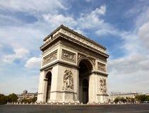 Famous Arc de Triomphe στο Παρίσι Στοκ Εικόνες