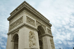 Famous Arc de Triomphe in Paris city Stock Photo