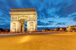 The famous Arc de Triomphe in Paris Royalty Free Stock Photos