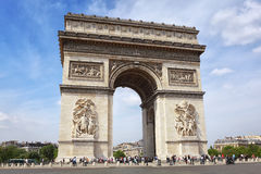 Famous Arc de Triomphe in Paris. France Stock Image