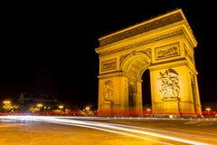 Famous Arc de Triomphe in Paris, France Royalty Free Stock Images
