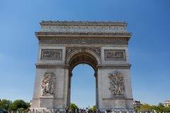 Famous Arc de Triomphe in Paris, France Stock Image