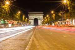Famous Arc de Triomphe in Paris, France. The Famous Arc de Triomphe in Paris, France in the summer of 2016 Stock Photos