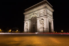 Famous Arc de Triomphe in Paris, France. The Famous Arc de Triomphe in Paris, France in the summer of 2016 Royalty Free Stock Photography