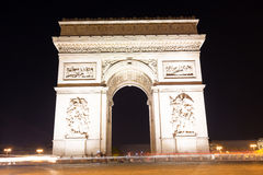 Famous Arc de Triomphe in Paris, France. The Famous Arc de Triomphe in Paris, France in the summer of 2016 Royalty Free Stock Images