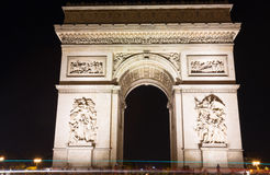 Famous Arc de Triomphe in Paris, France. The Famous Arc de Triomphe in Paris, France in the summer of 2016 Stock Image