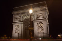 Famous Arc de Triomphe in Paris, France. The Famous Arc de Triomphe in Paris, France in the summer of 2016 Royalty Free Stock Photos