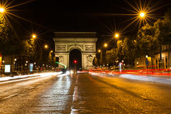 Famous Arc de Triomphe in Paris, France. The Famous Arc de Triomphe in Paris, France in the summer of 2016 Stock Images