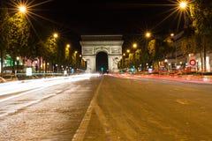 Famous Arc de Triomphe in Paris, France. The Famous Arc de Triomphe in Paris, France in the summer of 2016 Stock Images