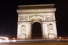 Famous Arc de Triomphe in Paris, France Stock Photos