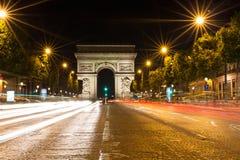 Famous Arc de Triomphe in Paris, France Stock Images