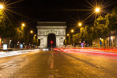 Famous Arc de Triomphe in Paris, France Stock Image
