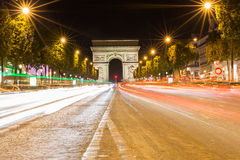 Famous Arc de Triomphe in Paris, France Royalty Free Stock Photo