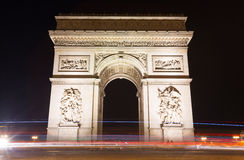 Famous Arc de Triomphe in Paris, France Stock Photography