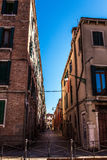 Famous architectural monuments and colorful facades of old medieval buildings close-up n Venice, Italy. VENICE, ITALY - AUGUST 17, 2016: Famous architectural Stock Image