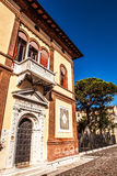 Famous architectural monuments and colorful facades of old medieval buildings close-up n Venice, Italy. VENICE, ITALY - AUGUST 17, 2016: Famous architectural Royalty Free Stock Photos