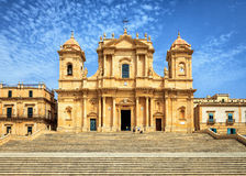 Famous Architectural Noto Cathedral, Sicily, Italy Royalty Free Stock Image