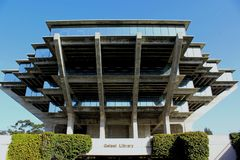 Geisel Library of UCSD. The famous architecture of the Geisel library building of UCSD, La Jolla, San Diego, California Stock Image