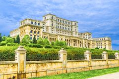 Palace of Parliament, Bucharest. Famous architecture in the world, Palace of Parliament, in Bucharest, Romania - Europe stock images