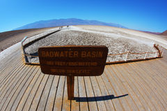 The famous area of Death Valley Stock Photography