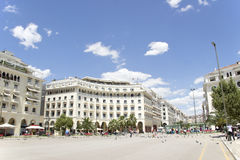 Famous  Aristotelous square in Thessaloniki, Greece - may 2013. Royalty Free Stock Photography