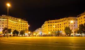 Famous Aristotelous Square. Thessaloniki, Greece Stock Photos