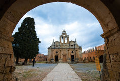 Famous Arkadi Christian orthodox monastery in Crete, Greece Royalty Free Stock Photography