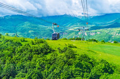The famous Armenian cableway Stock Images