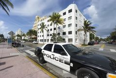 Famous art deco district of Ocean Drive in South Beach Miami, USA Stock Photography